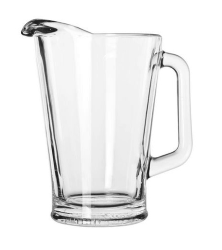 Beer pitcher, glass 60 oz